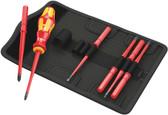 WERA 05003475001 Kraftform Kompakt VDE 7 extra slim 1 Bit set with handle and inter-changeable blades