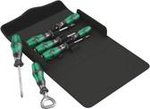 WERA 05105624001 Kraftform 300/7 Set 2 Screwdriver set Kraftform Plus, textile box