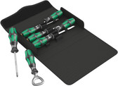 WERA 05105625001 Kraftform 300/7 Set 3 Screwdriver set Kraftform Plus, textile box