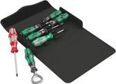 WERA 05105626001 Kraftform 300/7 Set 4 Screwdriver set Kraftform Plus, textile box