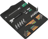 WERA 05134013001 Kraftform Kompakt F 1 Screwing tool set for window installers