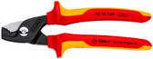 Knipex 95 18 160 US Cable Shears with StepCut Edges, 1000V Insulated