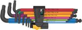 WERA 05022640001 950/9 Hex-Plus Multicolour Imperial 2 L-key set, Multicolour, Imperial
