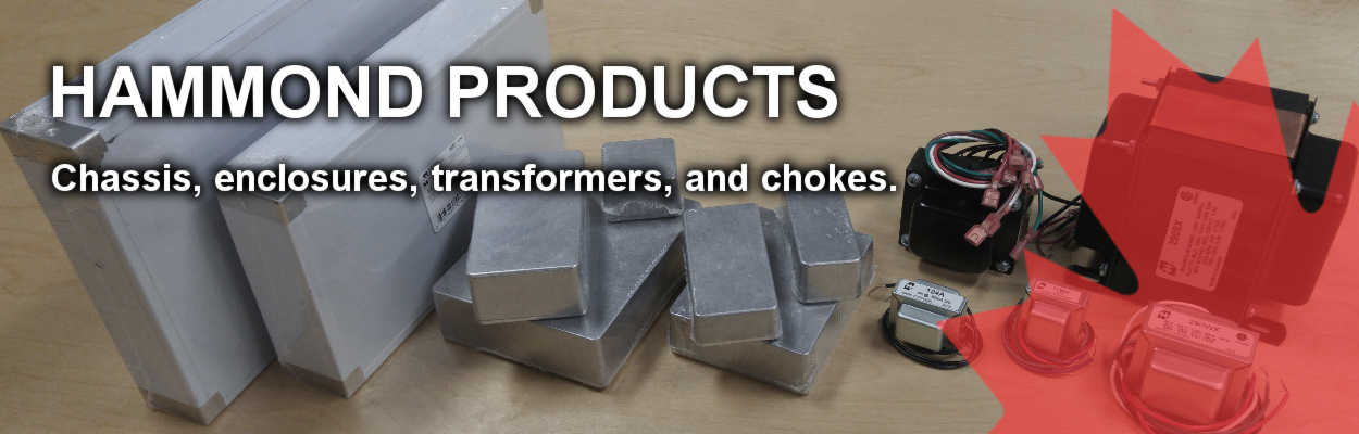 Distributor for Hammond Chassis, Enclosures, Chokes, and Transformers