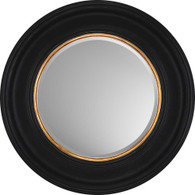 Round Black with Gold