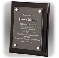 Black (Piano Finish) Floating Plaque