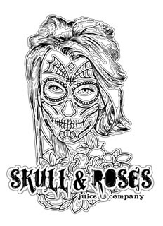 eJuice - Day Tripper by Skull & Roses Juice Co. 60ml. Grape cherry bubblegum.