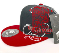 Embroidered Baseball Cap, Red/black