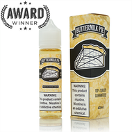 Buttermilk Pie e-liquid from Primitive Vapor Company is the flavor that launched the legendary line of e-liquid flavors referred to as the milk pie line. All the flavor of a classic Southern culinary experience known as Buttermilk pie. A custard pie that's baked until it has a lightly caramelized top crust over its creamy center. It could almost melt in your mouth!