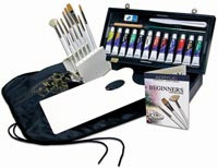 Royal Brush Set with Case & Paint Acrylic