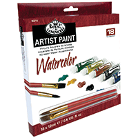 Royal 18pk Paint Sets with 2 Brushes Watercolour