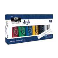 Royal Acrylic 6pk Set 75ml tubes