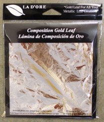 La D'Ore Composition Leafing Foils 25pk Gold Colour