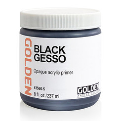 Golden Black Gesso 16oz