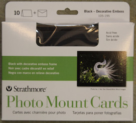 Strathmore Photo Mount Cards & Envelopes 10pk Black