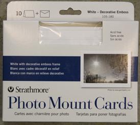 Strathmore Photo Mount Cards & Envelopes 50pk White Swirl Boarder