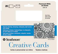 Strathmore Creative Cards Cards & Envelopes 50pk White Decal Edge