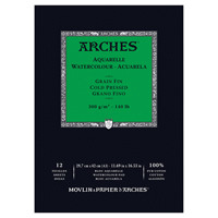 Arches Watercolour Pad 9x12 140lb 12 Sheets Cold Press