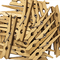 Mini Clothespins 25pk Natural Colour