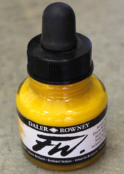 Daler Rowney FW Acrylic Ink 1oz bottle with dropper Brilliant Yellow