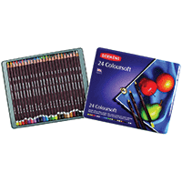 Derwnet Pencil Crayons 24pk