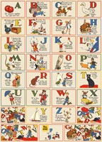 CLEARANCE! Cavallini Papers ABCs 20x28