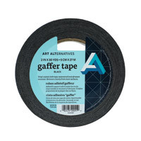 Gaffer's Tape Roll Black 2""