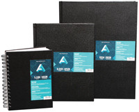 Black, Hard-Cover Sketchbook Coil 11x14