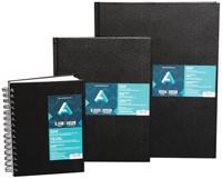 Black, Hard-Cover Sketchbook Coil 5.5x8