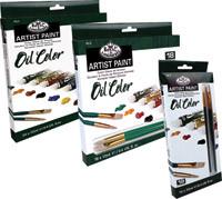 Royal Paint Set 12 colours & 2 Free Brushes Oil
