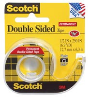 "Scotch Double Sided Tape 1/2"" wide (Yellow)"