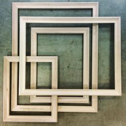 Frame Raw Wood 12x16