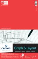 Canson Graph Pad 9x12 4x4grid