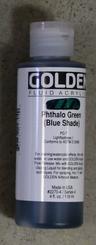 Golden Fluid Acrylics 4oz Sr 4 Pthalo Green (blue shade)