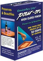 Pour-On High Gloss Finish 2-part totalling 8oz