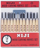 Niji Wood Carving Set 12pk