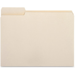 Business Source File Folders Letter 100pk Tab on Left