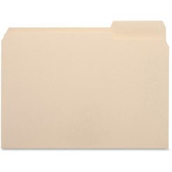Business Source File Folders Letter 100pk Tab on Right