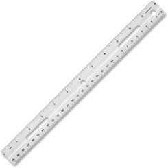 "Business Source 12"" Plastic Binder Ruler"
