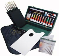 Royal Brush Set with Case & Paint Oil