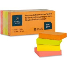 "Sticky Notes 1x2"" 12pk Neon Colours"
