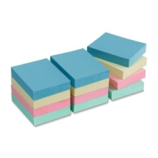 "Sticky Notes 1x2"" 12pk Pastel Colours"