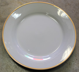 Plate White with Gold Edge