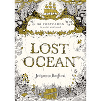 Colouring Post Cards 36pk Lost Ocean