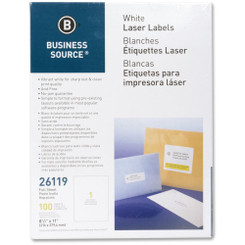 Business Source Labels Full Page 100pk White