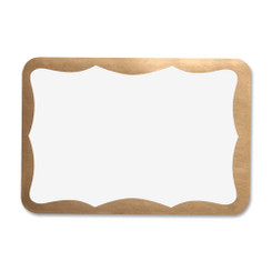 Name Labels with Gold Edge 100pk