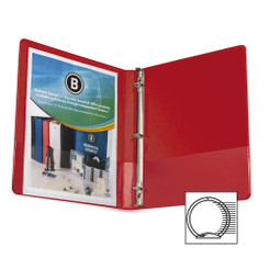 "Business Source Binder 1/2"" Red"
