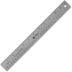 Business Source Steel Cork Back Ruler 12""