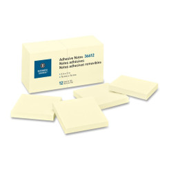 Business Source Sticky Notes 3x3 Yellow 12pk