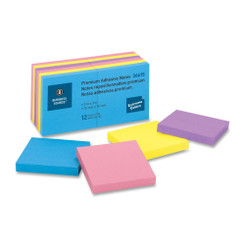 Business Source Sticky Notes 3x3 12pk Extreme Colours